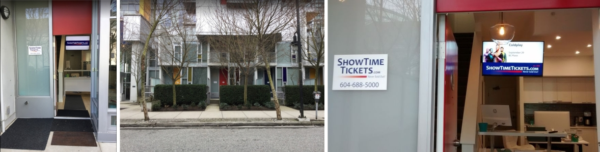 ShowTimeTickets.com Vancouver Office