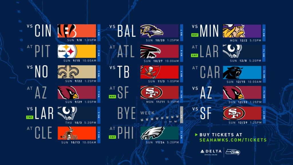 2019 Seattle Seahawks schedule